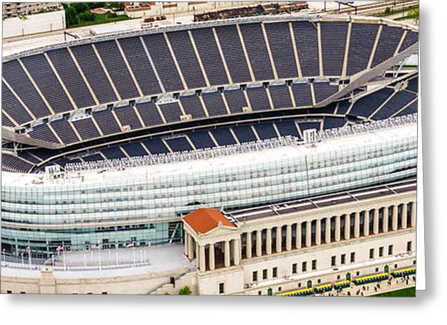 Chicago Soldier Field Aerial Photo Greeting Card by Paul Velgos