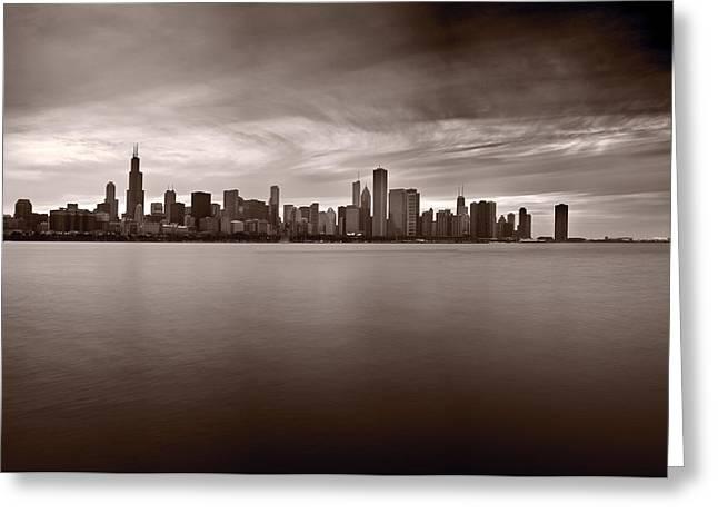 Chicago Storm Greeting Card by Steve Gadomski