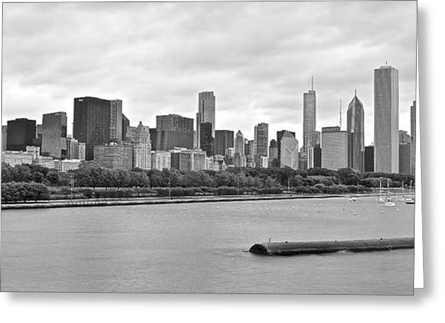 The Bean Greeting Cards - Chicago Stretches Out Greeting Card by Frozen in Time Fine Art Photography