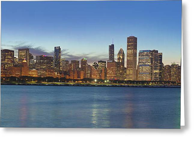 City Lights Greeting Cards - Chicago Summer 2012 Greeting Card by Donald Schwartz