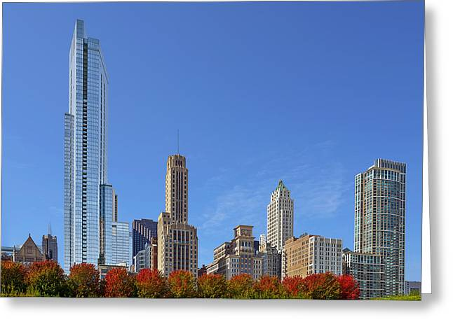 Fall Greeting Cards - Chicago The Beautiful Greeting Card by Christine Till
