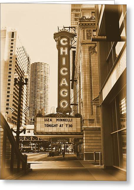 Ely Greeting Cards - Chicago Theater - 3 Greeting Card by Ely Arsha
