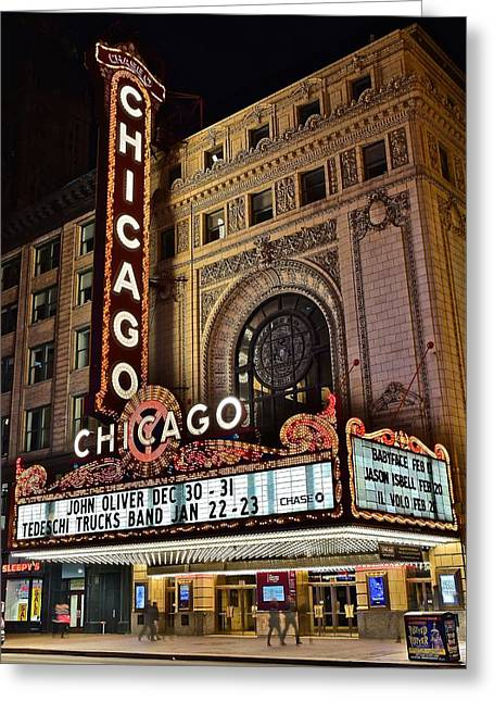 Chicago Theatre Greeting Card by Frozen in Time Fine Art Photography