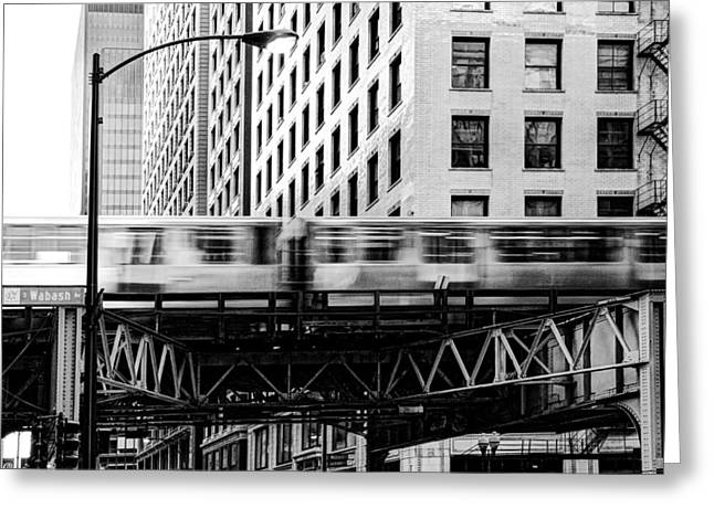 Metra Greeting Cards - Chicago Transit Greeting Card by Anthony Citro