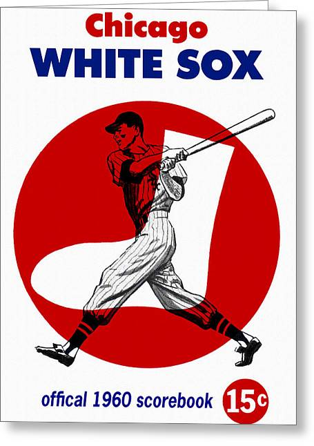 Chicago White Sox 1960 Scorebook Greeting Card by Big 88 Artworks