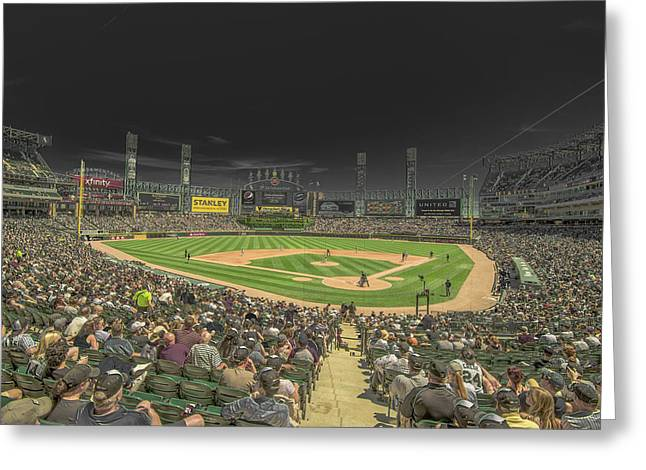 Boys Of Summer Greeting Cards - Chicago White Sox US Cellular Field Creative 2 Greeting Card by David Haskett