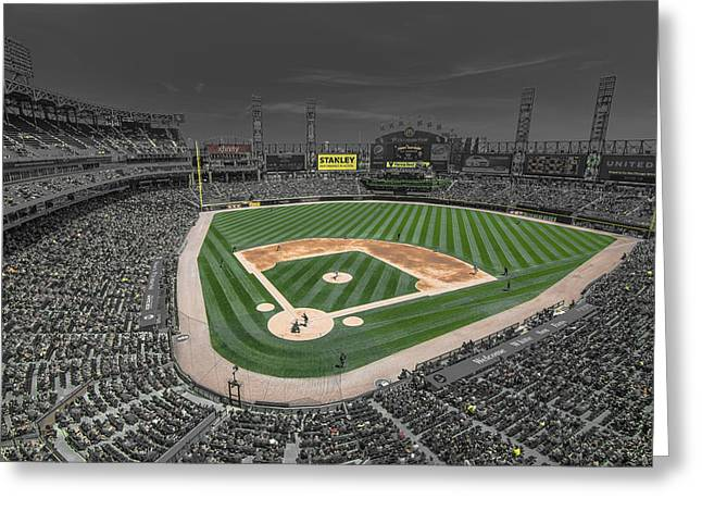 Boys Of Summer Greeting Cards - Chicago White Sox US Cellular Field Creative Greeting Card by David Haskett