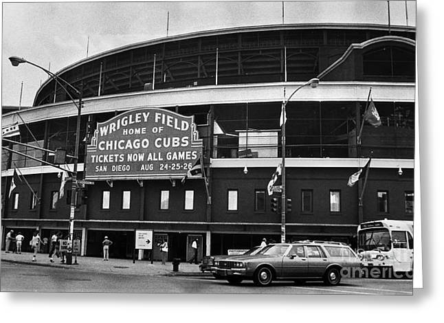 1981 Photographs Greeting Cards - Chicago: Wrigley Field Greeting Card by Granger