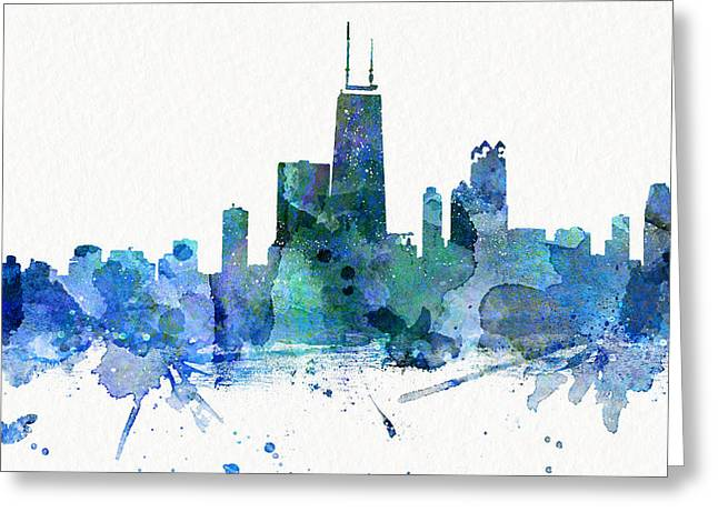 Windy City Mixed Media Greeting Cards - Chicago_2 Greeting Card by JW Digital Art