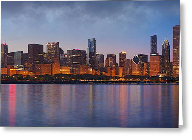 Skyline Greeting Cards - Chicagos Beauty Greeting Card by Donald Schwartz