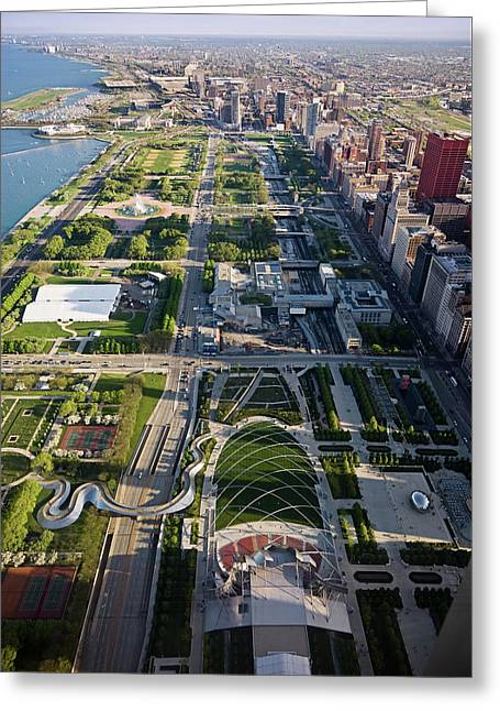 Chicagos Front Yard 2006 Greeting Card by Steve Gadomski