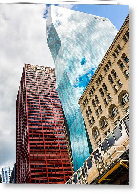 University School Greeting Cards - Chicagos South Wabash Avenue  Greeting Card by Semmick Photo