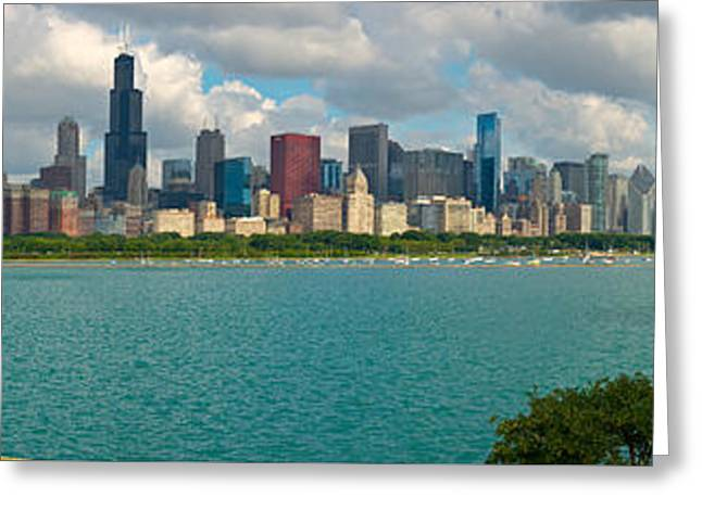Reserve Greeting Cards - ChicagoSummer pano2 Greeting Card by Kevin Eatinger