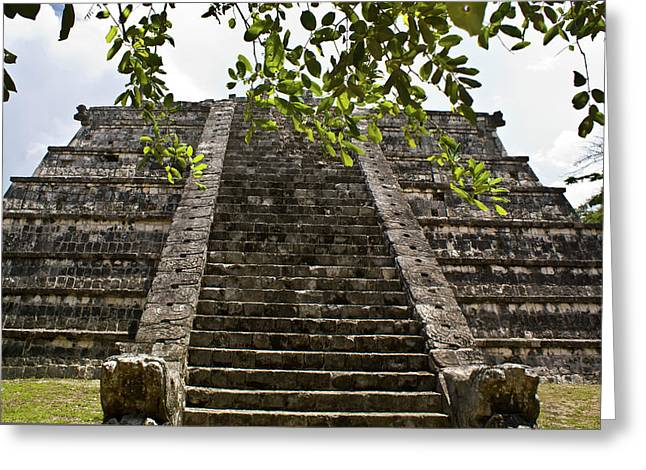 Solidity Greeting Cards - Chichen Itza 3 Greeting Card by Douglas Barnett