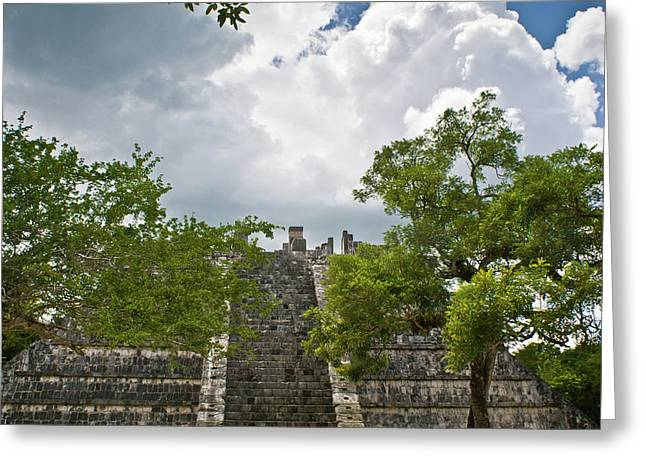 Solidity Greeting Cards - Chichen Itza 4 Greeting Card by Douglas Barnett