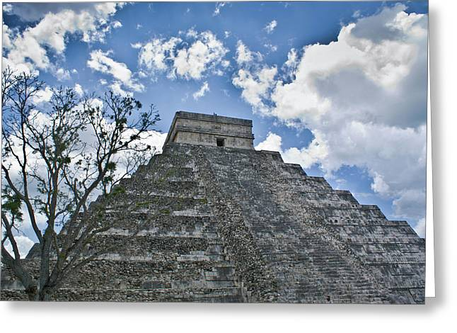 Solidity Greeting Cards - Chichen Itza 5 Greeting Card by Douglas Barnett