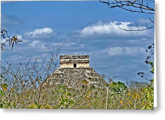 Ancient Ruins Greeting Cards - Chichen Itza Sunny Side Greeting Card by Chris Brannen