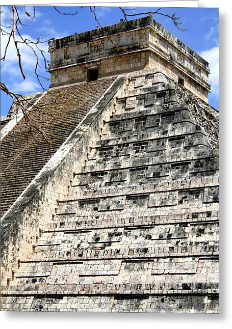 Ancient Ruins Greeting Cards - Chichen Itza Up Close Greeting Card by Chris Brannen