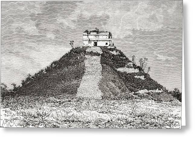Restoration Drawings Greeting Cards - Chichen Itza, Yucat Greeting Card by Ken Welsh