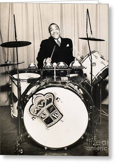 1930s Portraits Greeting Cards - Chick Webb (1909-1939) Greeting Card by Granger