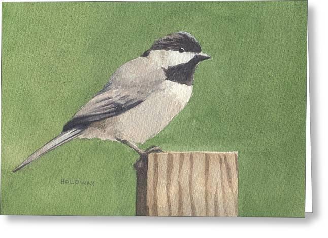 Chickadee Greeting Card by John Holdway