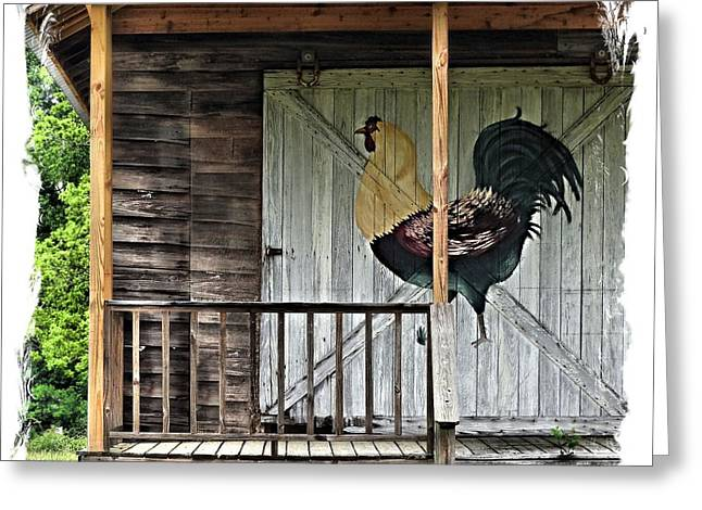 Shed Greeting Cards - Chicken House Greeting Card by Laura Ragland