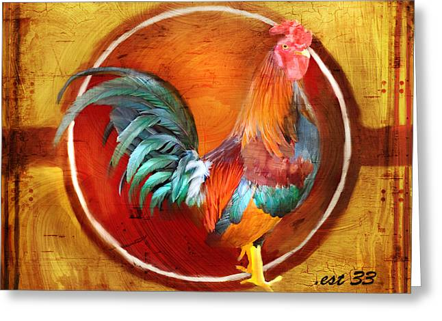 Labelled Mixed Media Greeting Cards - Chicken Little Greeting Card by Joel Payne