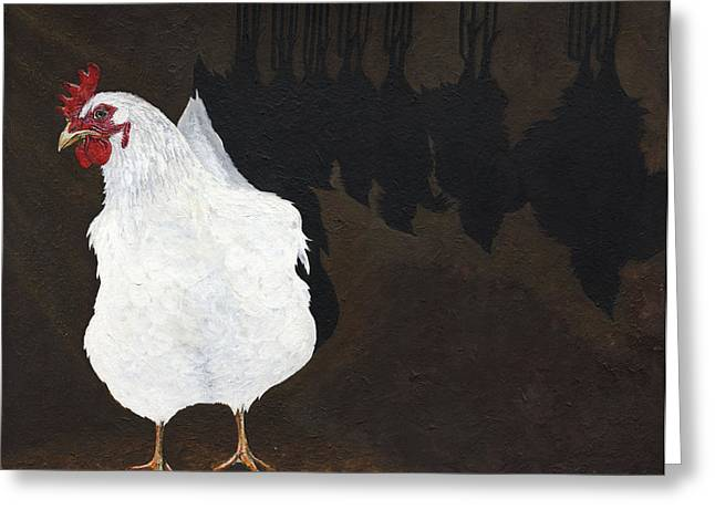 Advocacy Greeting Cards - Chicken Shadow Greeting Card by Twyla Francois