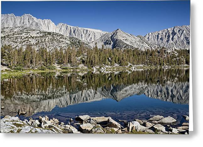 Little Lakes Valley Greeting Cards - Chickenfoot Lake Greeting Card by Kelley King