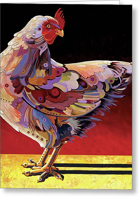 Imaginary Realism Greeting Cards - Chickenscape II Greeting Card by Bob Coonts