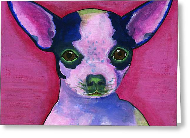 Pooches Greeting Cards - Chico Greeting Card by Debbie Brown