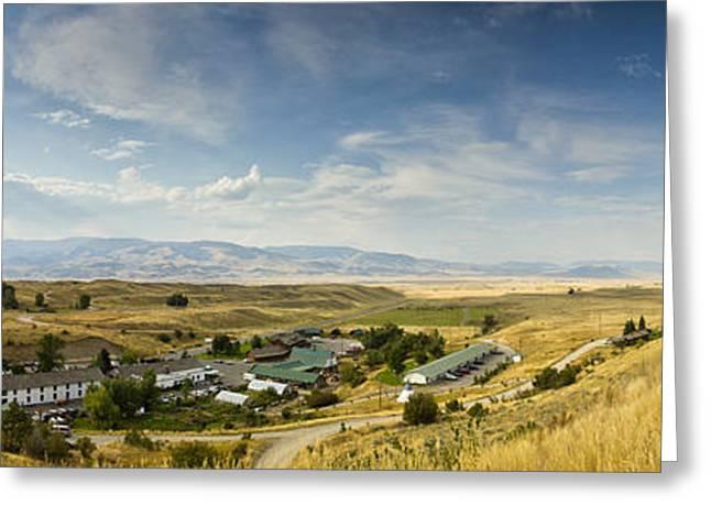 Hot Spring Greeting Cards - Chico Hot springs Pray Montana Panoramic Greeting Card by Dustin K Ryan