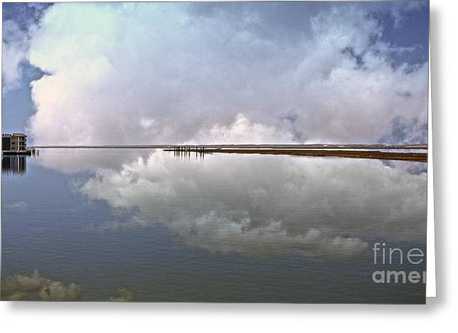 Panoramic Ocean Greeting Cards - Chicoteague  Panoramic Greeting Card by Tom Gari Gallery-Three-Photography