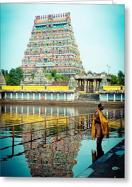 Chidambaram Temple Lord Shiva India Greeting Card by Raimond Klavins