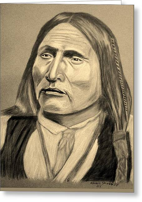 Chief Big Bow Greeting Card by Edward Stamper