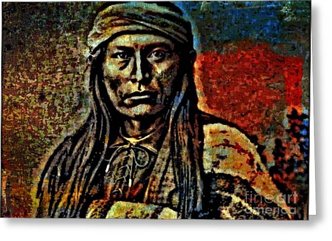 Chief Cochise Greeting Card by WBK