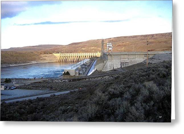 Chief Joseph Dam Greeting Card by Will Borden