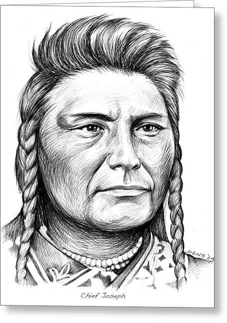 Chief Joseph Greeting Card by Greg Joens