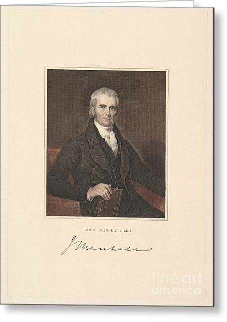 Chief Justice John Marshall Greeting Card by Celestial Images