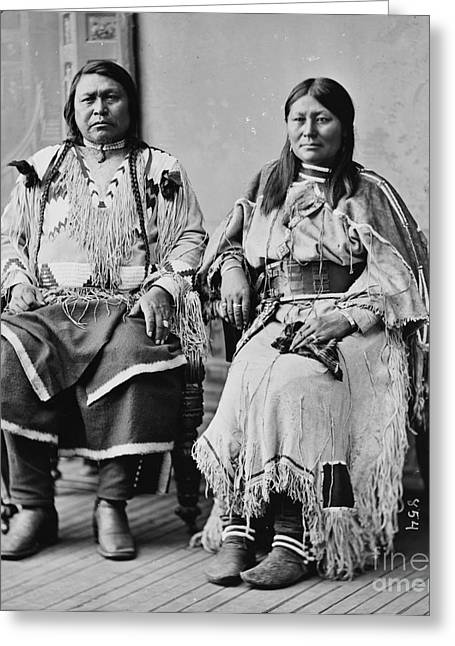 Chief Ouray And Wife Chipeta Greeting Card by Pg Reproductions