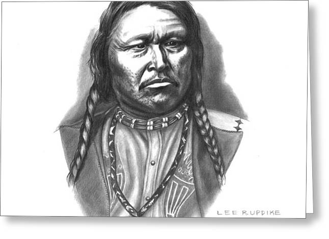 Chief Ouray Greeting Card by Lee Updike
