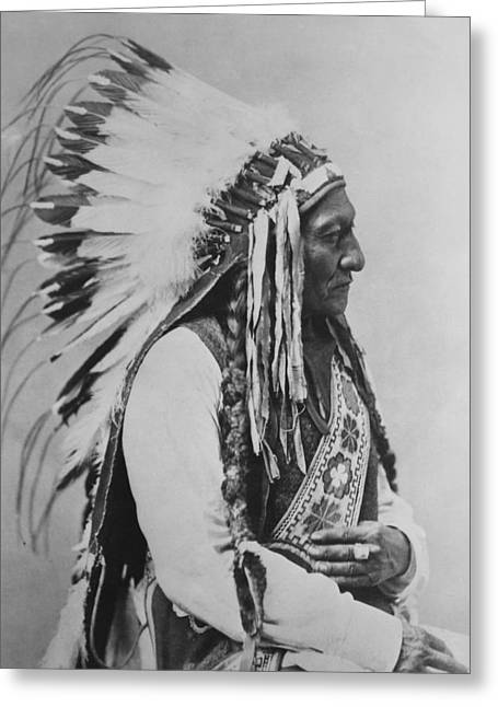 Chief Sitting Bull Greeting Cards - Chief Sitting Bull Greeting Card by War Is Hell Store