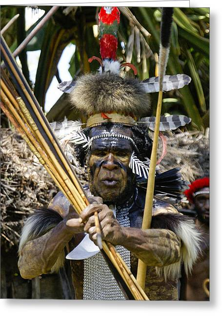 Southeast Photographs Greeting Cards - Chief Yali Greeting Card by Michele Burgess