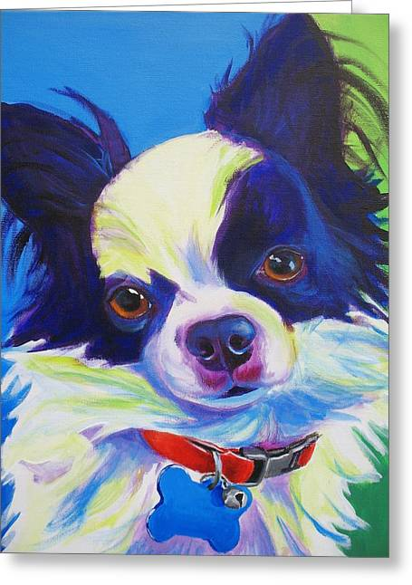 Alicia Vannoy Call Paintings Greeting Cards - Chihuahua - Esso-Gomez Greeting Card by Alicia VanNoy Call