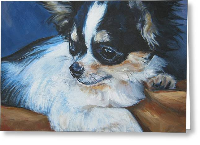 Chihuahua Portraits Greeting Cards - Chihuahua Greeting Card by Lee Ann Shepard