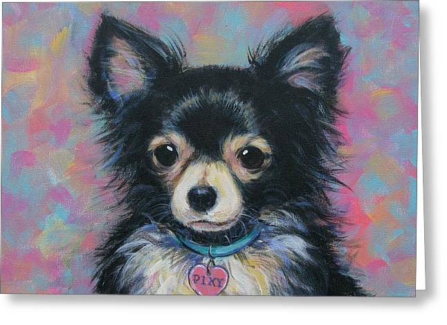 Chihuahua Greeting Card by Vickie Fears