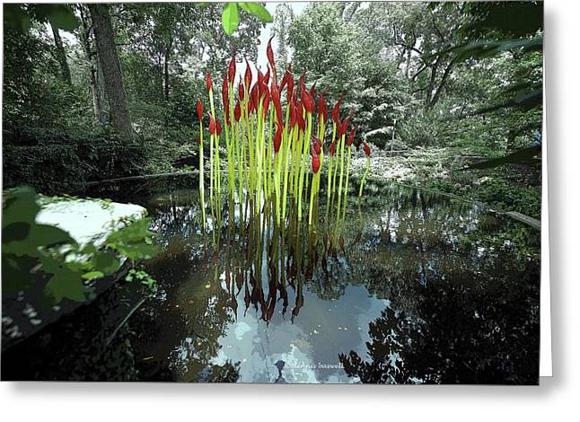 Chihuly Forest Pond Greeting Card by Dennis Baswell