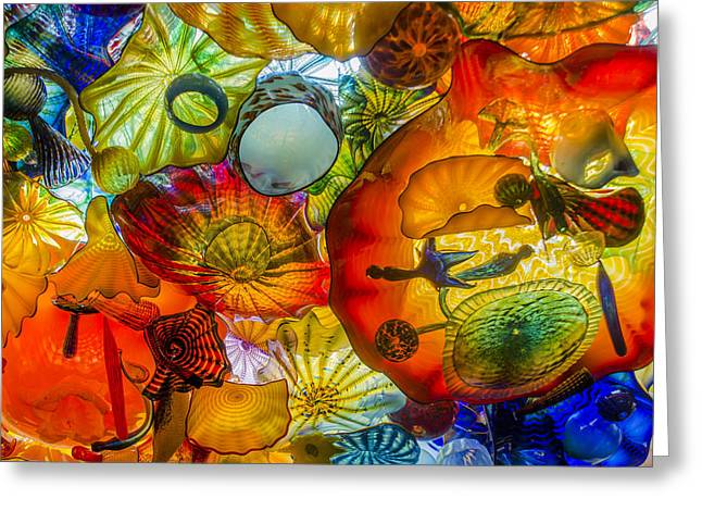 Chihuly Glass Greeting Cards - Chihuly Gass Greeting Card by Cara Purdy