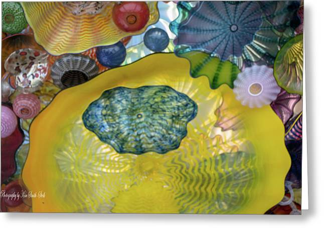 Chihuly Glass 1 Greeting Card by Safe Haven Photography Northwest