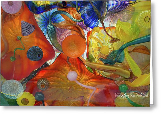 Chihuly Glass 2 Greeting Card by Safe Haven Photography Northwest